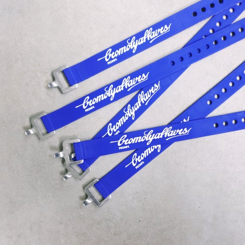 "Image of CROMOLYAFFAIRS VOILE STRAPS® - 20"" ALUMINUM BUCKLE - BLUE"