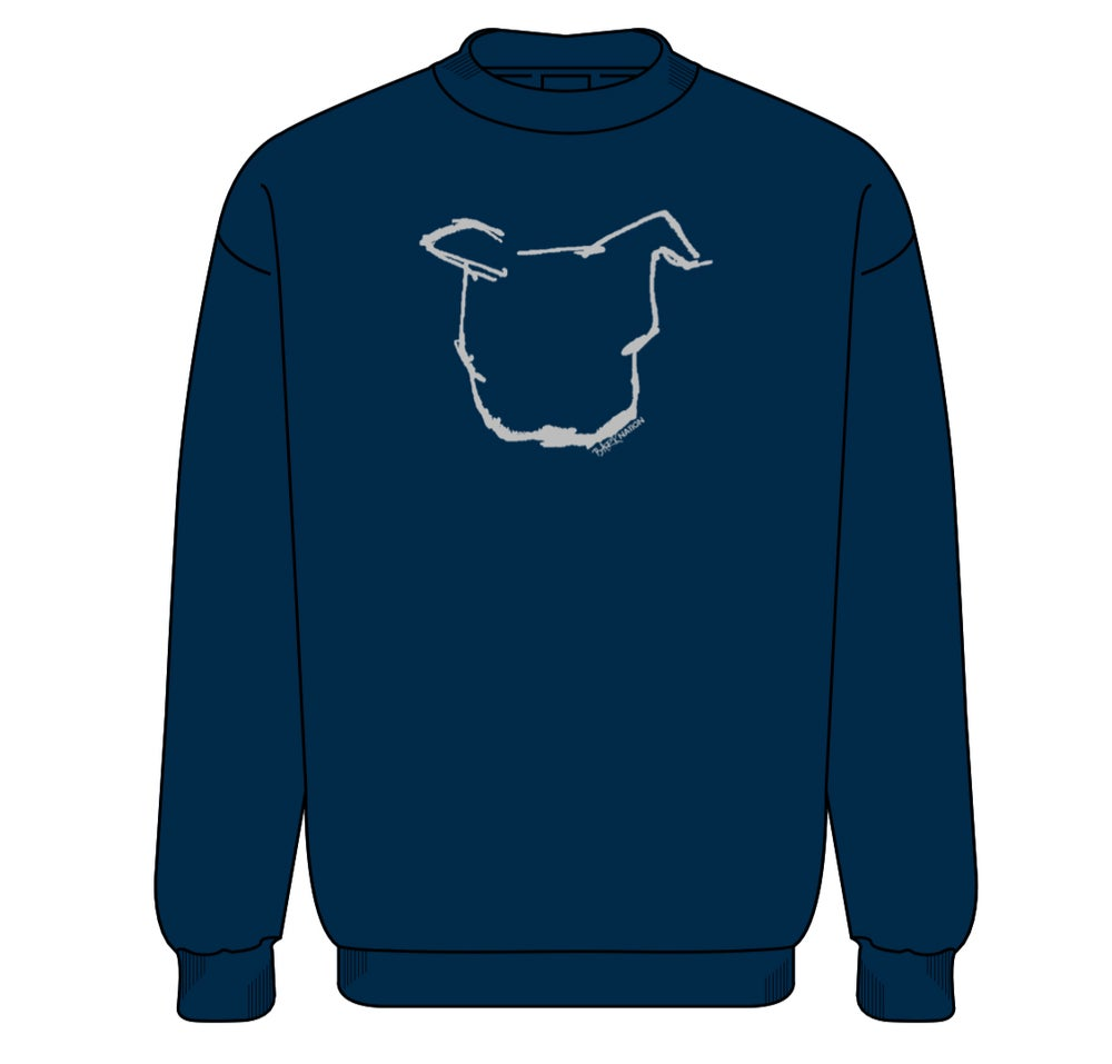 Navy Crew Neck Sweatshirts!