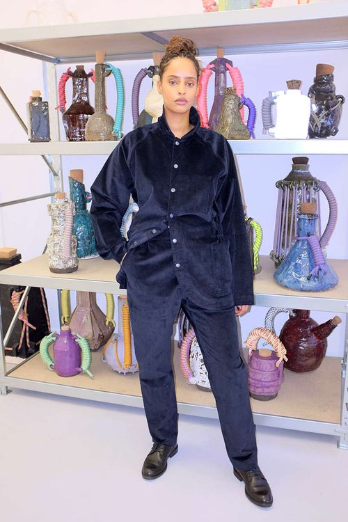 Image of Maja Brix & Aarstiderne - Trousers - Dark Green Corduroy