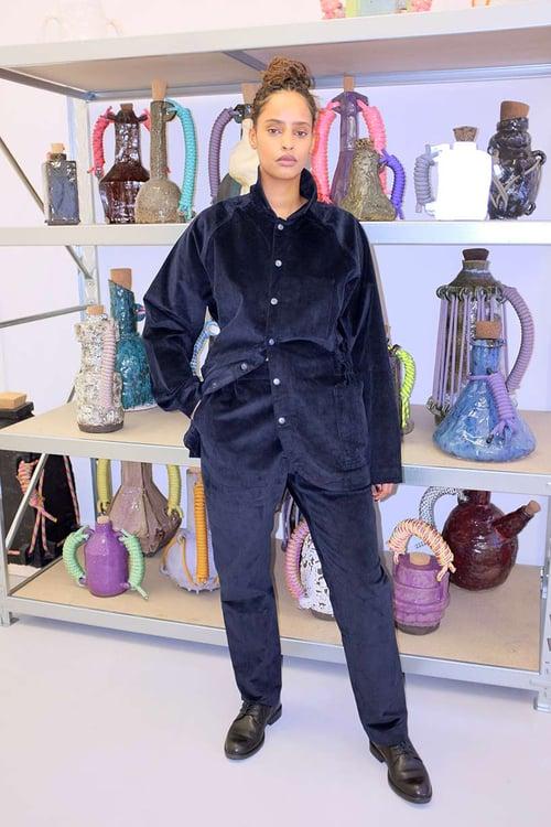 Image of Maja Brix & Aarstiderne - Trousers - Black Corduroy