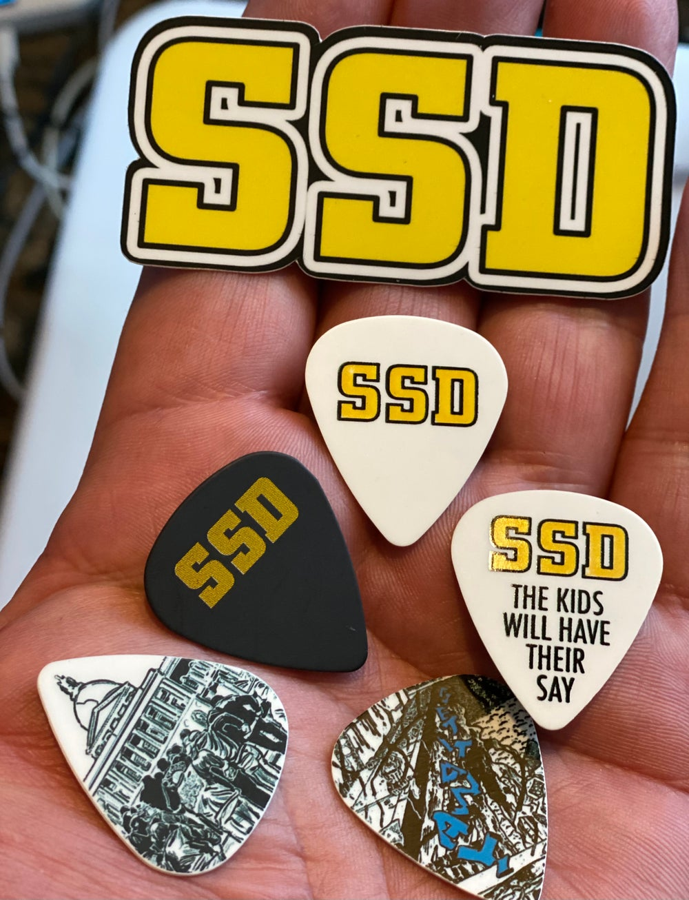 2021 Limited SSD guitar pick set