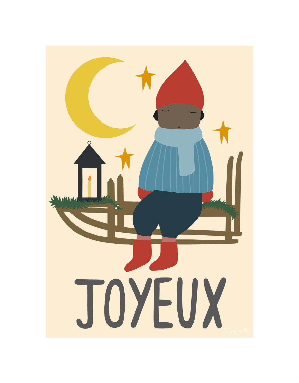 Image of JOYEUX (BLUE SCARF)
