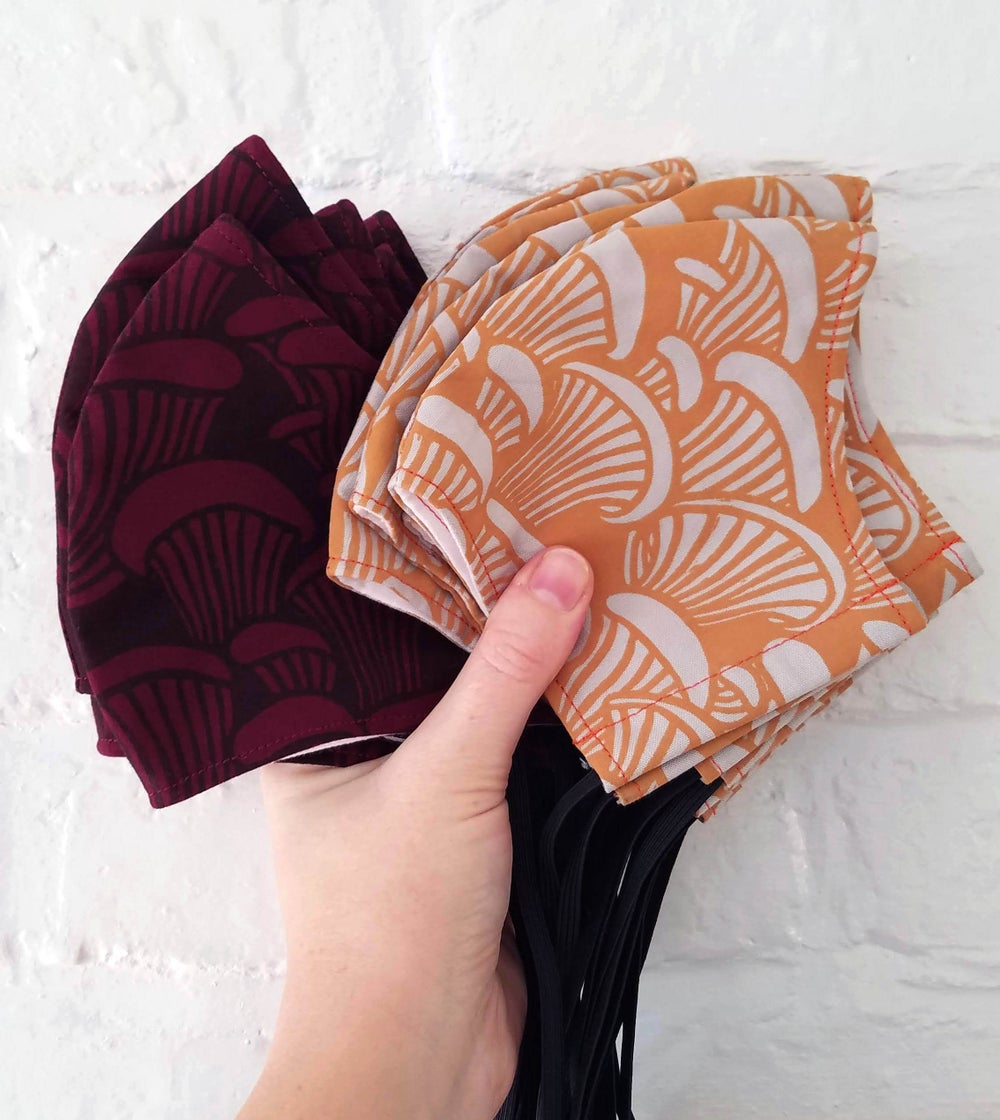 Image of Printed Cotton Facemasks
