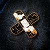 """1.5"""" Starry Band Aid Enamel Pin"""