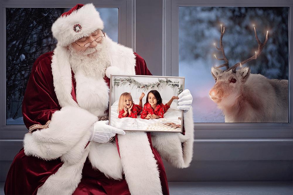 Image of Family (2-4 Children) Santa Photo