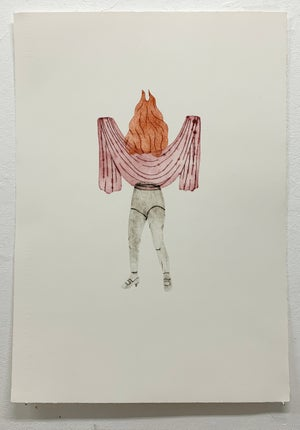 Image of Art print - Trying to hide 1