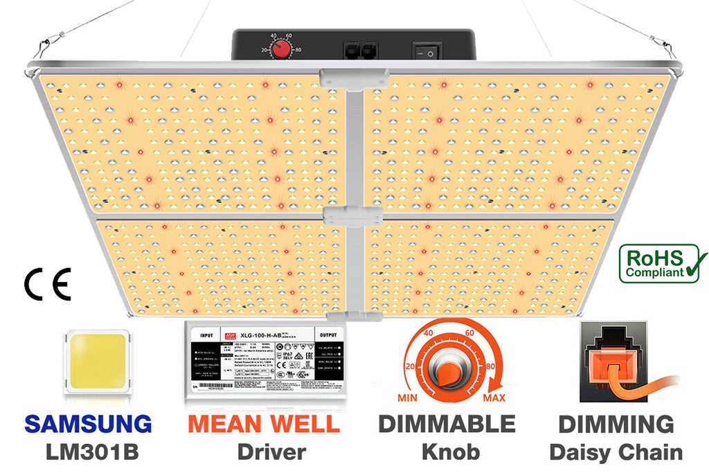 Image of DEVIL GROW™  DG-4000W LED Grow Light Samsung led LM301B Indoor IP65 Waterproof