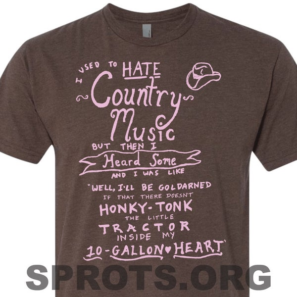 Image of I USED TO HATE COUNTRY MUSIC Screen Printed T-Shirt
