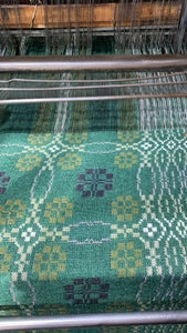 Image of Welsh Wool coldatnight Blanket in Woodland Greens
