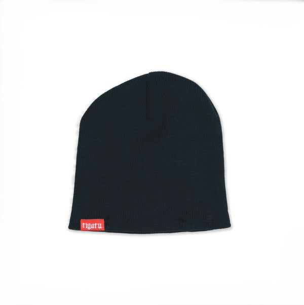 "Image of ""Branded"" Beanie - Black/Red"
