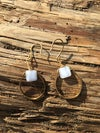 Upcycled Blue Lace Agate & Brass Earrings