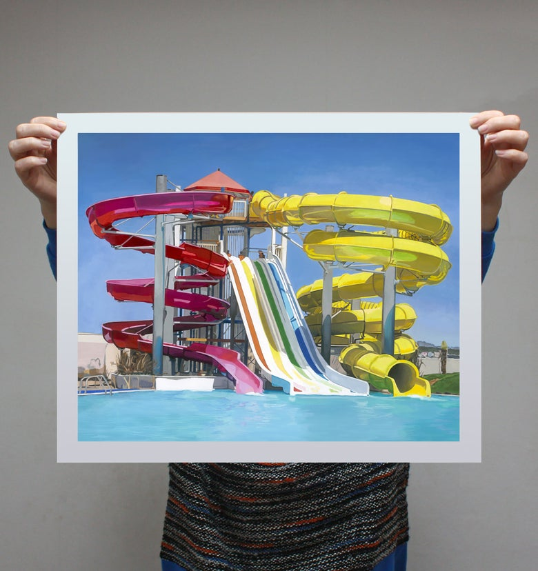 Image of 'Waterslides' - Limited Edition Print - 57cm x 45.75cm