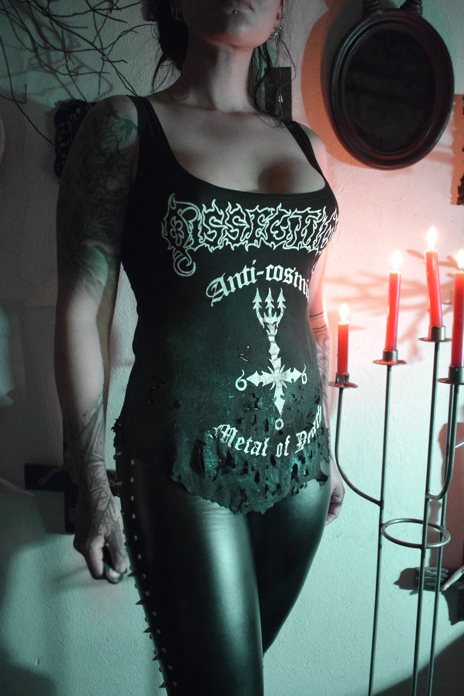 Image of DISSECTION Anti cosmic - Metal of death  Destroyed tank top - FREE SHIPPING