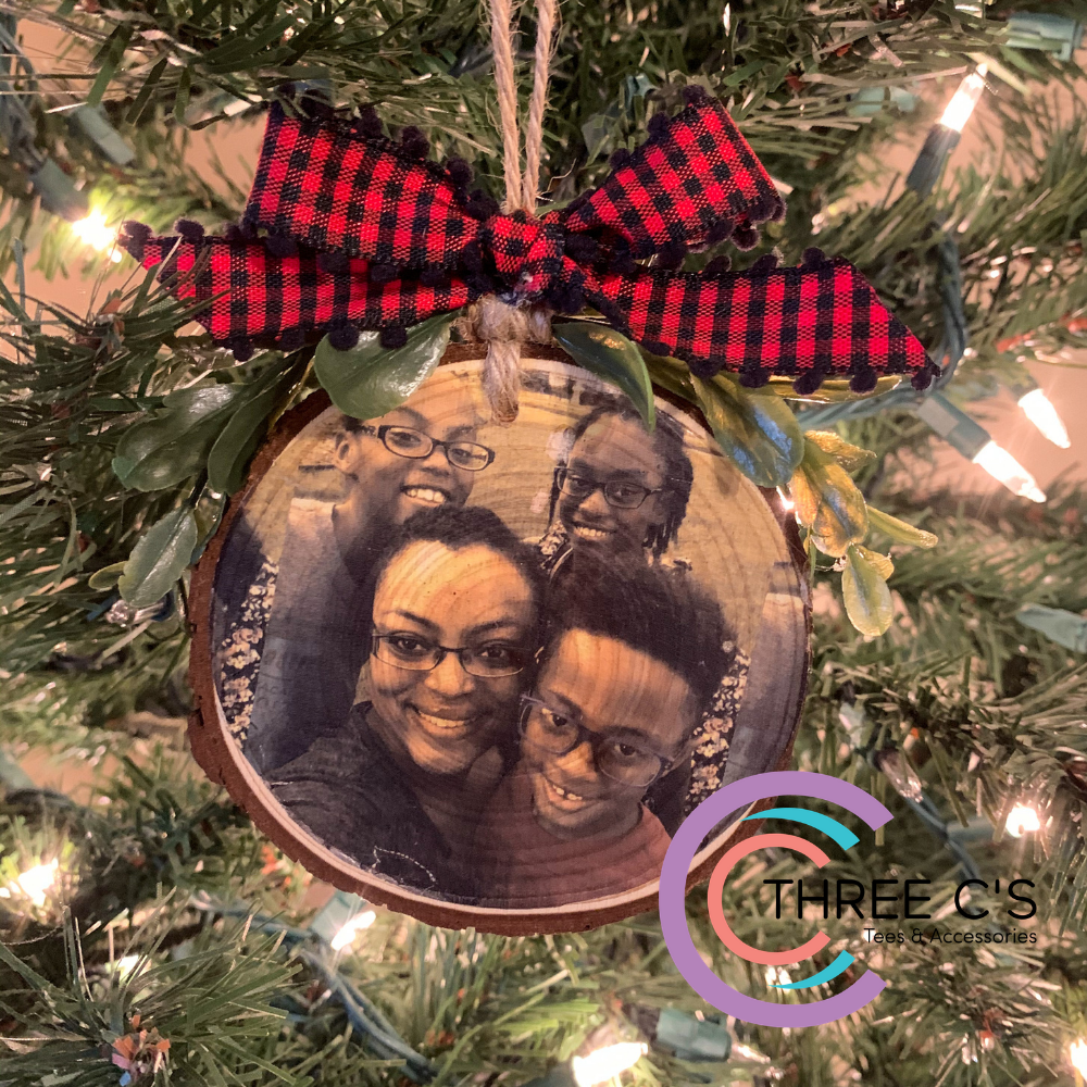 Image of Photo Wood Slice Ornament
