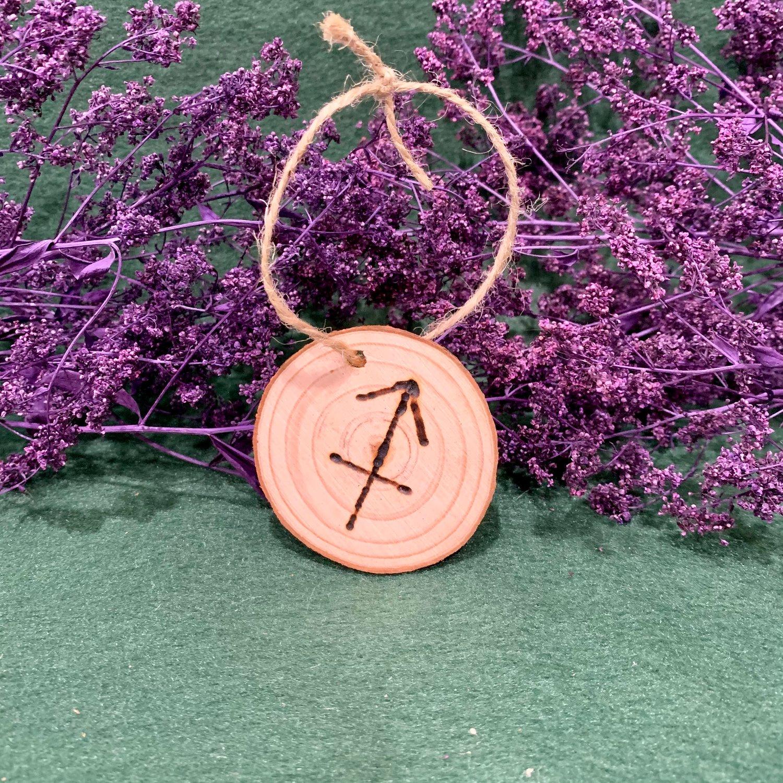 Sagittarius Wood Slice