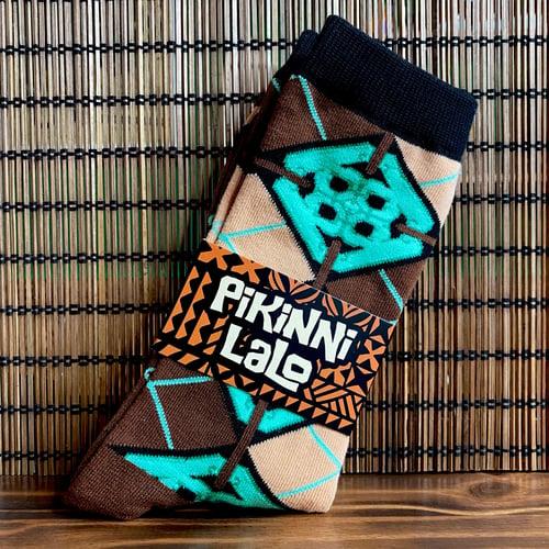 Image of Jade Tile Argyle Socks - Men size