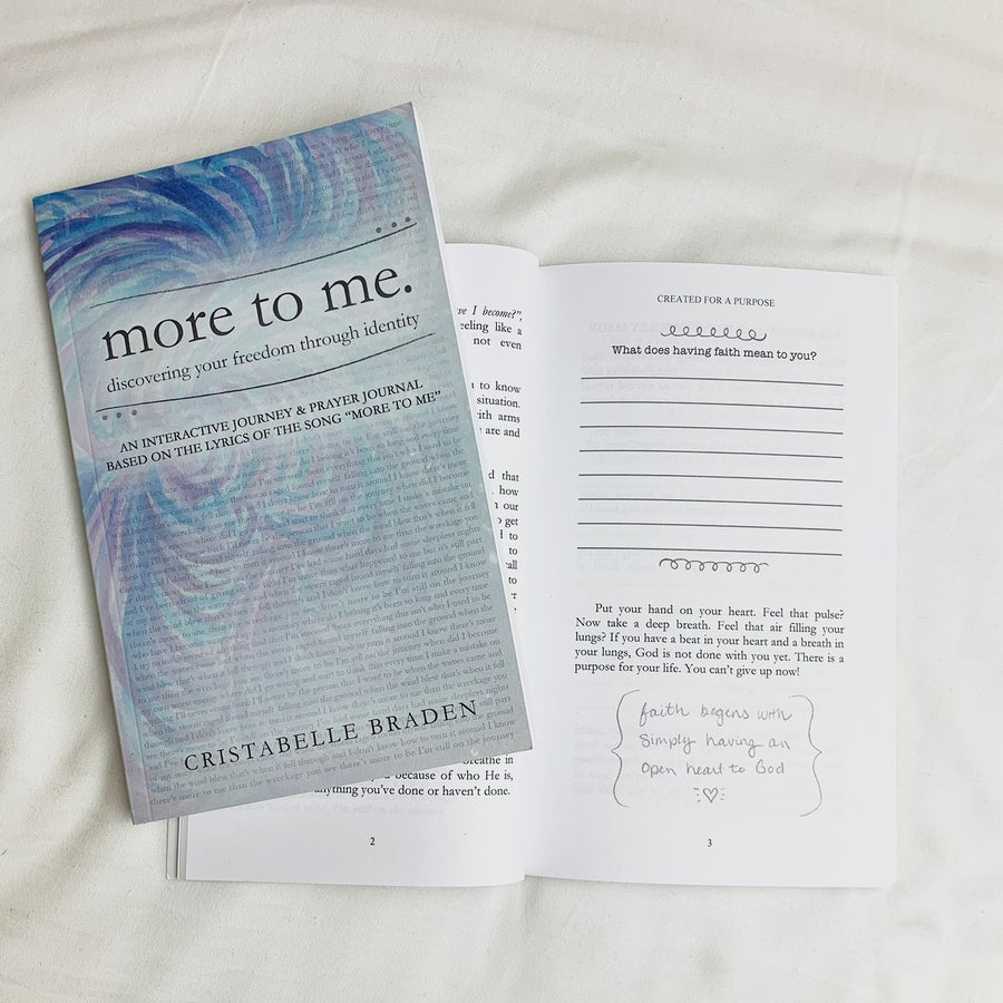 """Image of """"more to me"""" - book / guided prayer journal"""