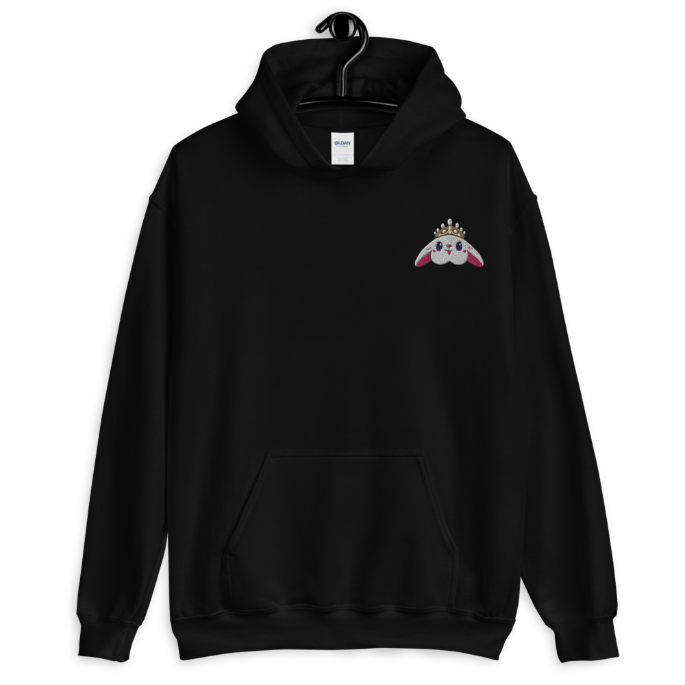 Image of Blanco 'Bunny Crown' Embroidered Hoodie