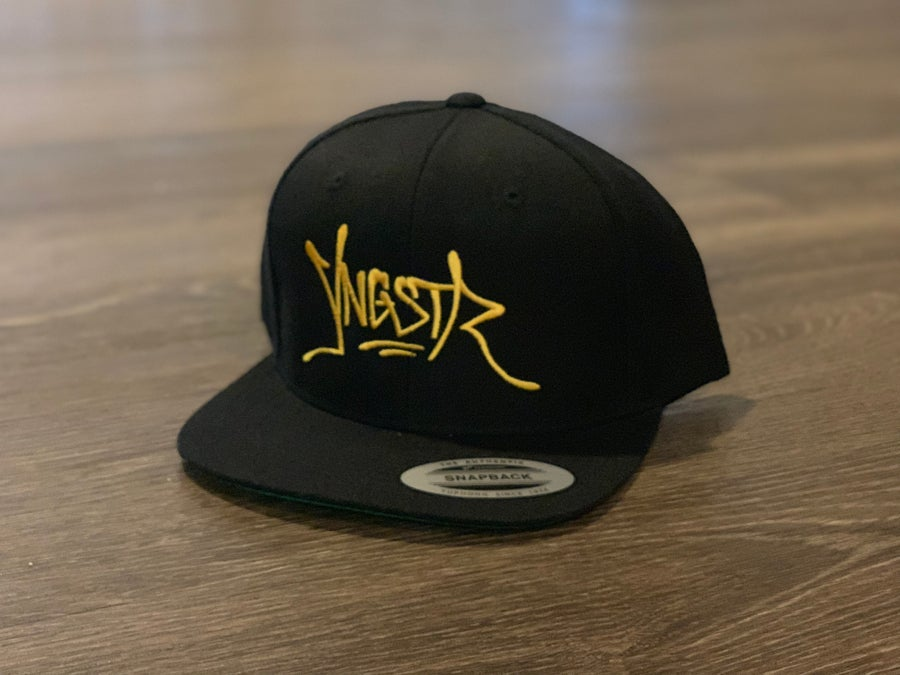 Image of YNGSTR Tag SnapBack (yellow)