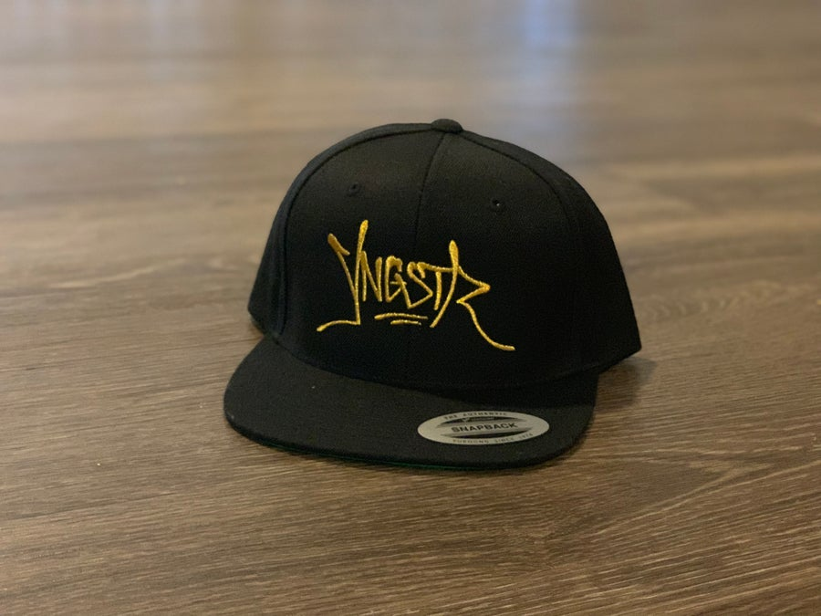 Image of YNGSTR Tag SnapBack (gold)