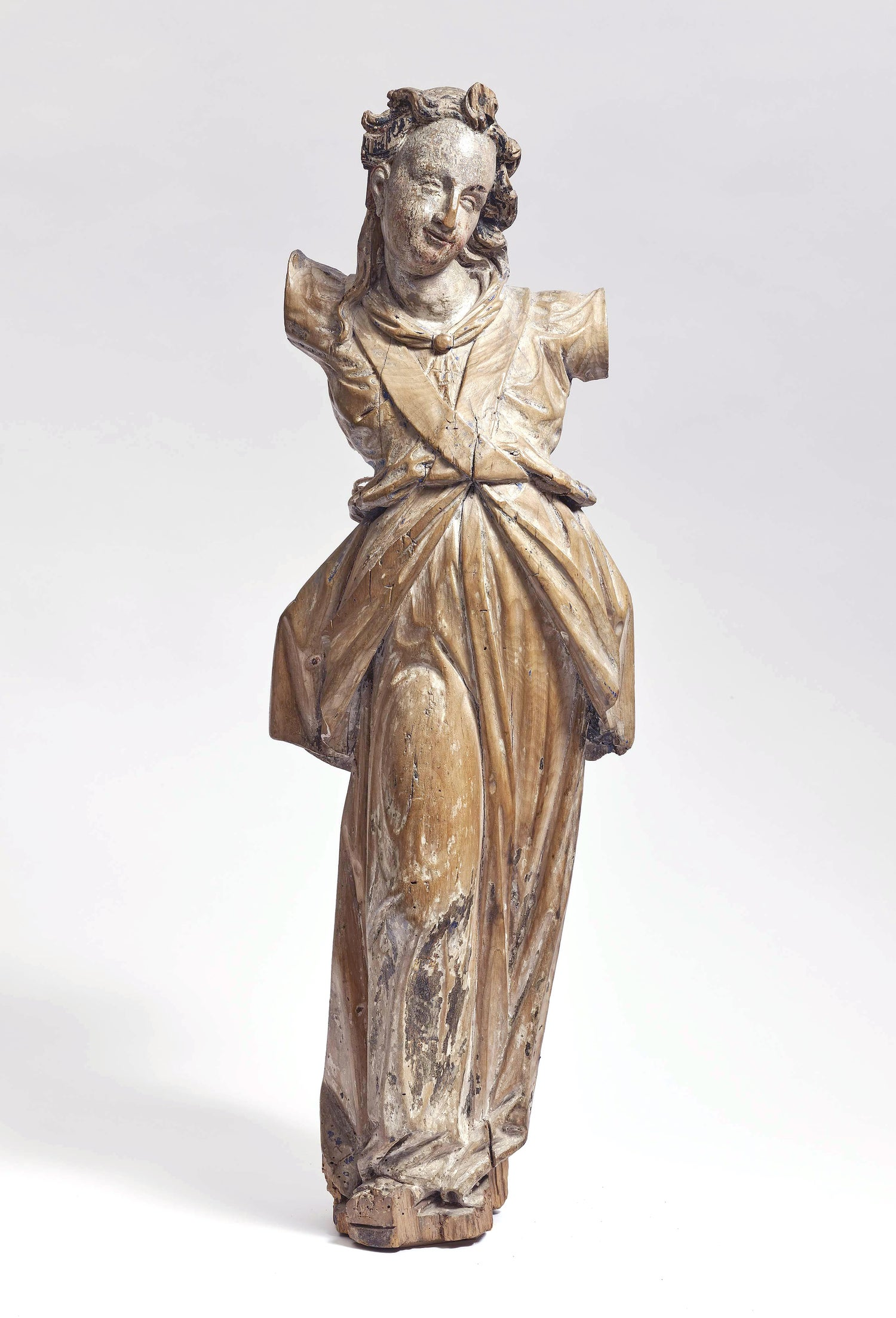 Image of 17th century Bavarian limewood statue of an Angel
