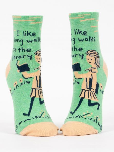 Image of Long Walks to the Library Ankle Socks