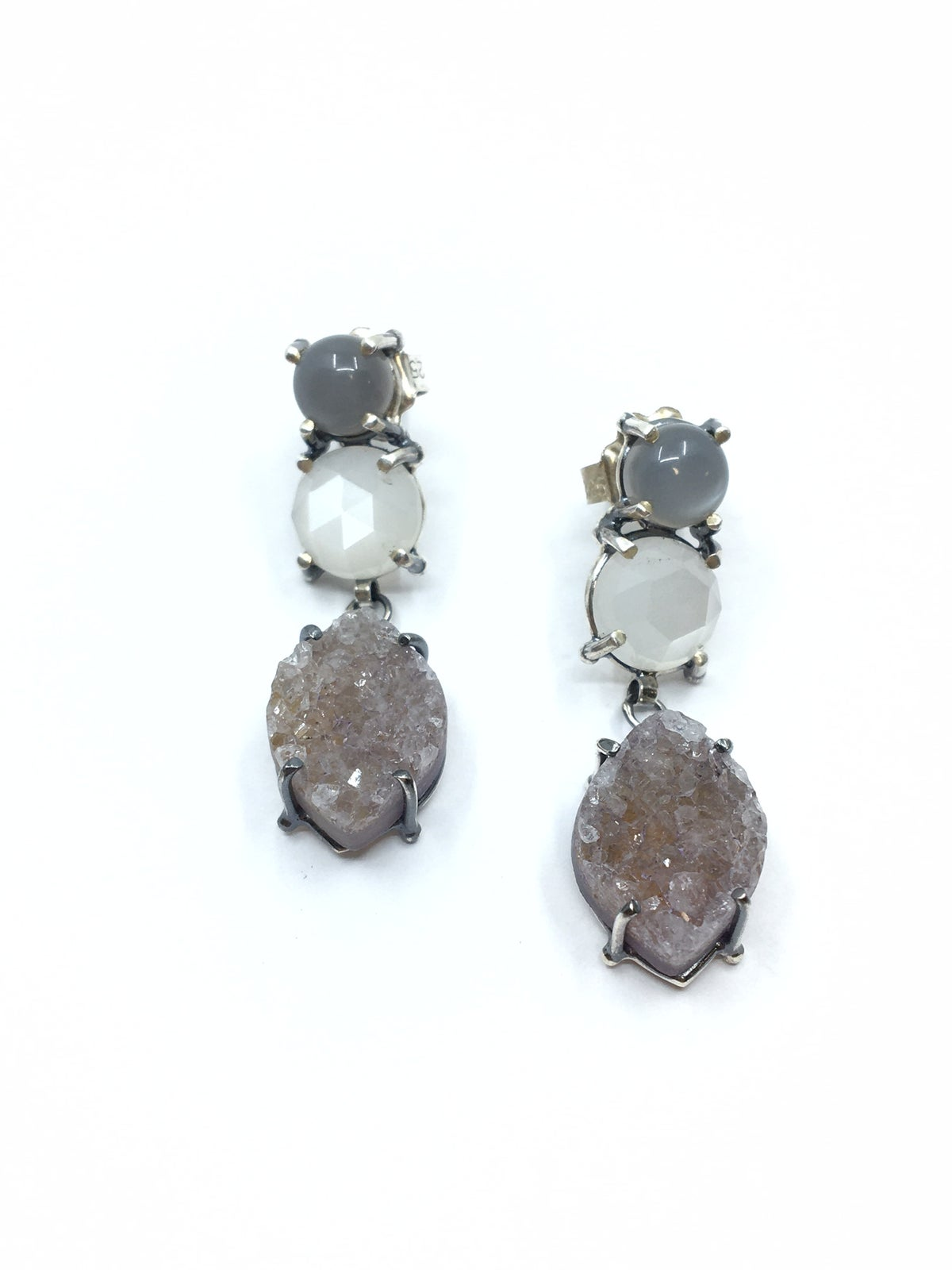 3 Stone Earring by Joanna Goldberg