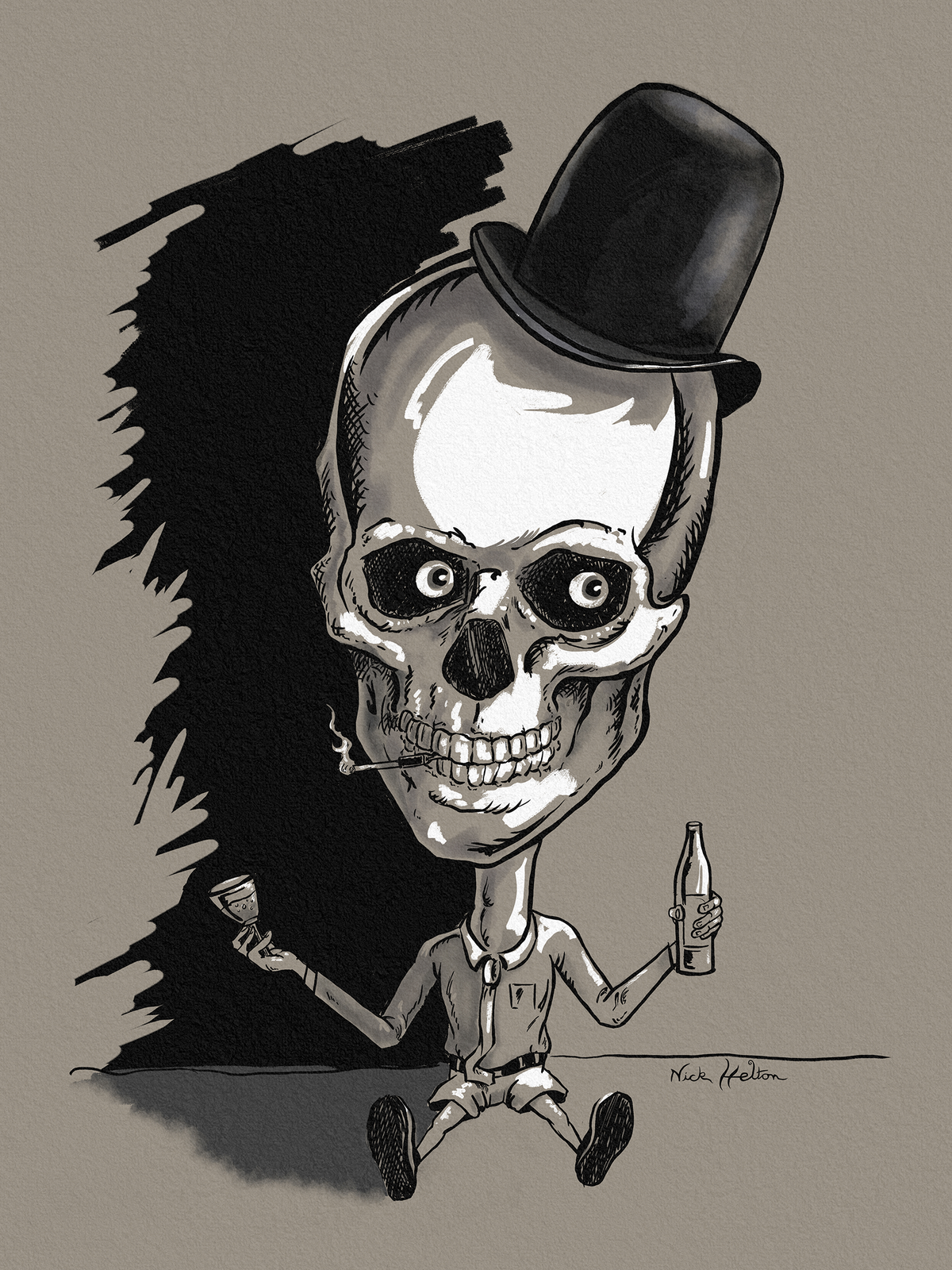 """Image of """"Mr. Fancy""""  - Giclee print"""