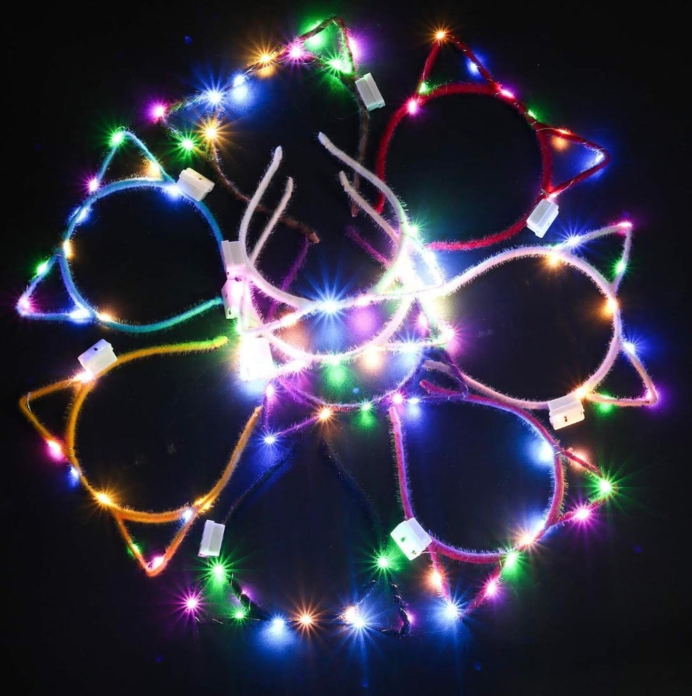 Image of Lighted Cat Ears (Assorted Colors)