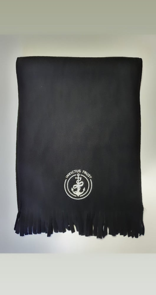 Image of Embroidered black scarf - Invictus new style