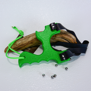 Image of Slingshots Catapults, Green Textured HDPE Poly, The Menace, Sling Shot Target Shooter, Unique Gift