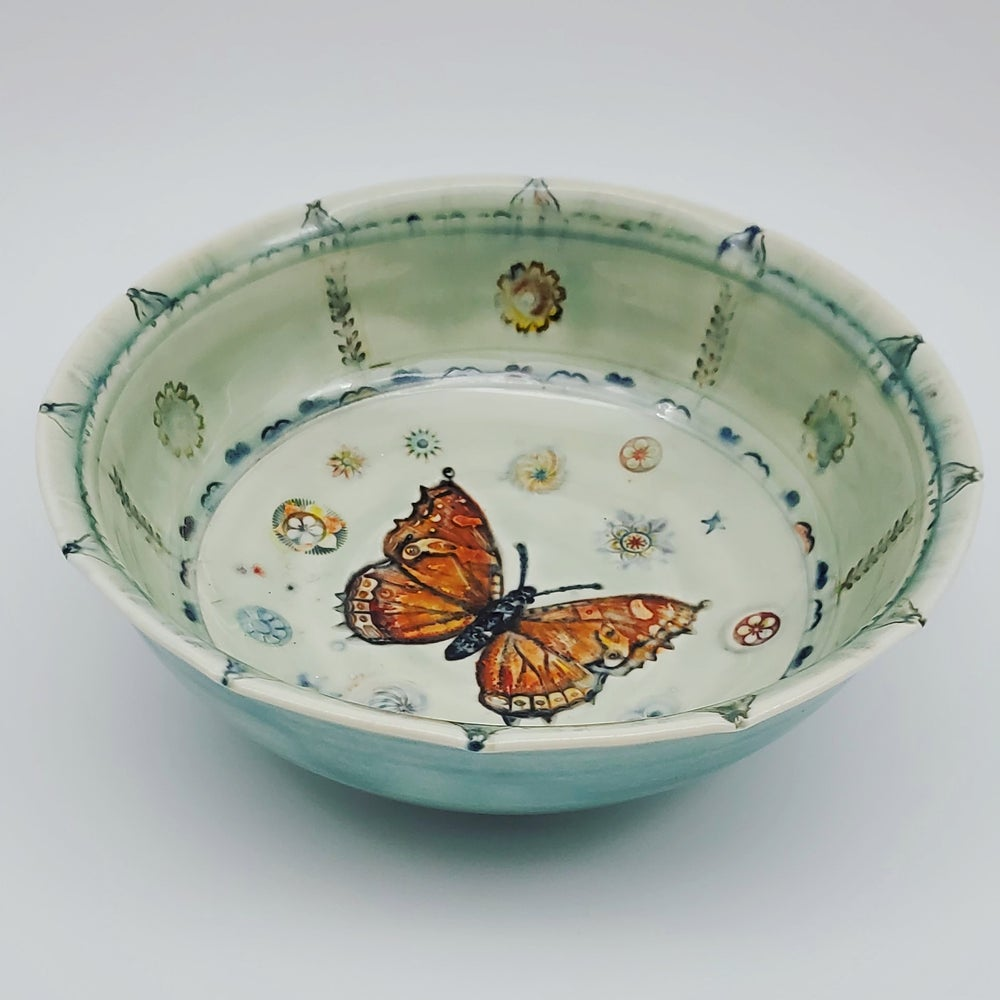 Image of Monarch Butterfly Porcelain Bowl