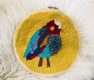 Image of Punch Needle Bird Embroidery
