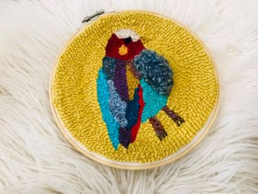 Punch Needle Bird Embroidery
