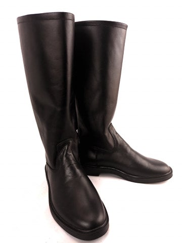 Image of Black Officer Riding Boots (without zipper)