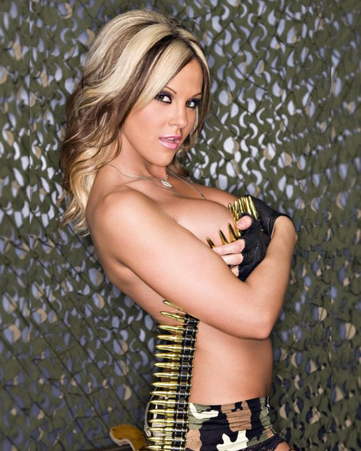 "Image of Velvet Sky ""Bullet Babe"" signed glossy 8x10 photo"