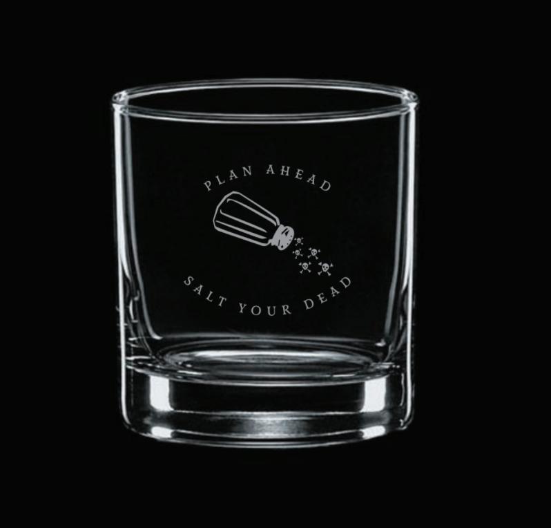 Image of Salt Your Dead Rocks Glass Gift Set