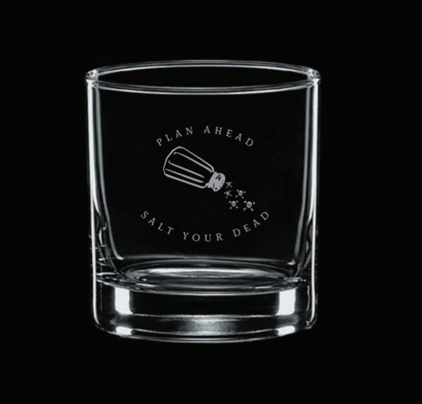 Image of Salt Your Dead Rocks Glass Gift Set PREORDER