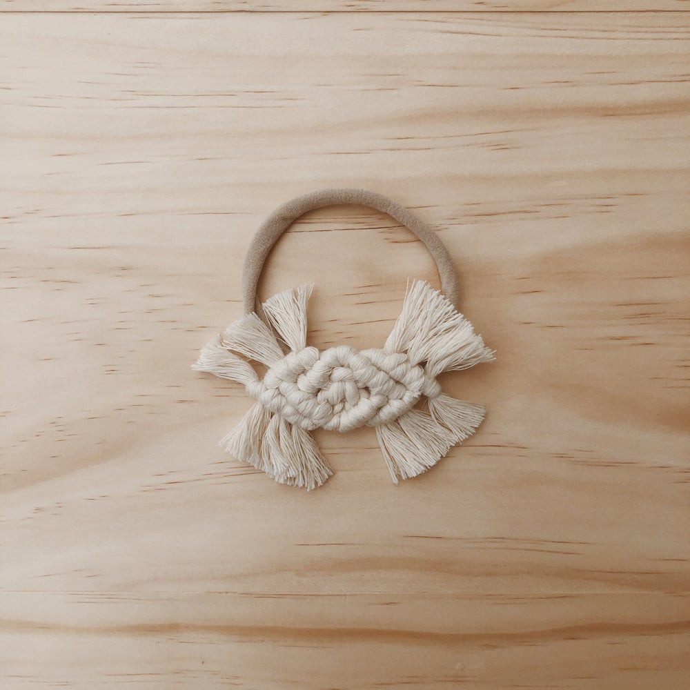 Image of macrame headband