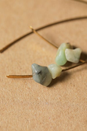 Image of Brass Arch + Stone Earrings : 3 Designs