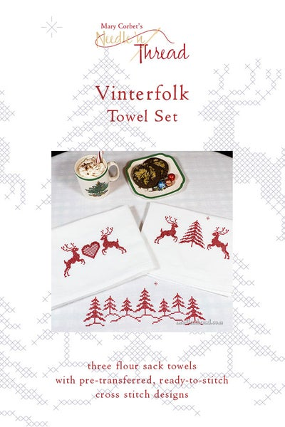 Image of Vinterfolk Ready-to-Stitch Towel Set