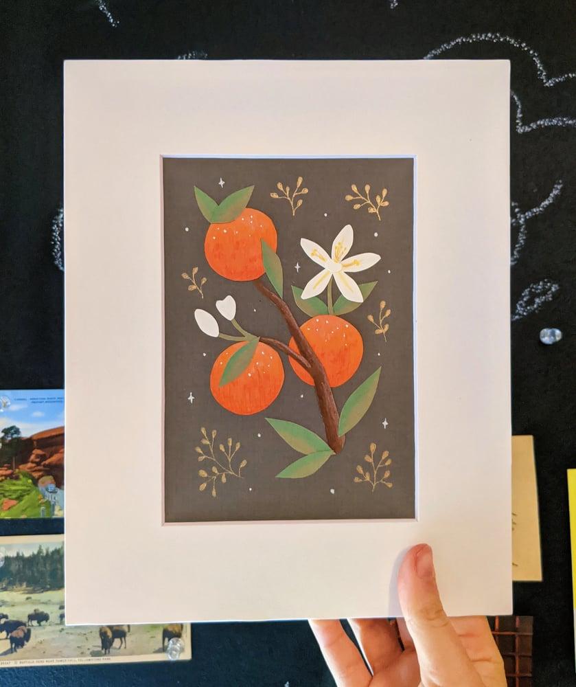 Image of Orange blossom cut paper