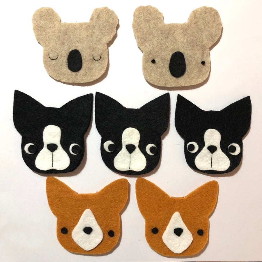 Image of  ready to ship ornaments -- animal heads