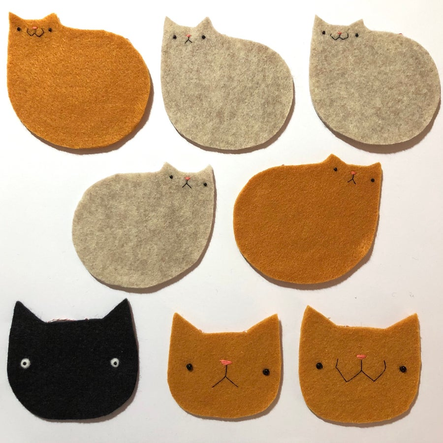 Image of ready to ship ornaments -- cats