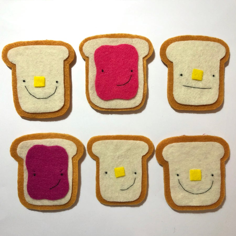 Image of ready to ship ornaments -- toast