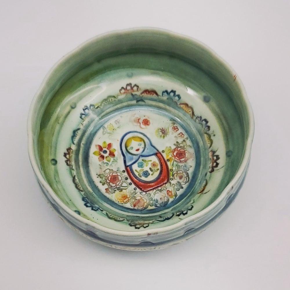 Image of Matroska Doll Porcelain Dish