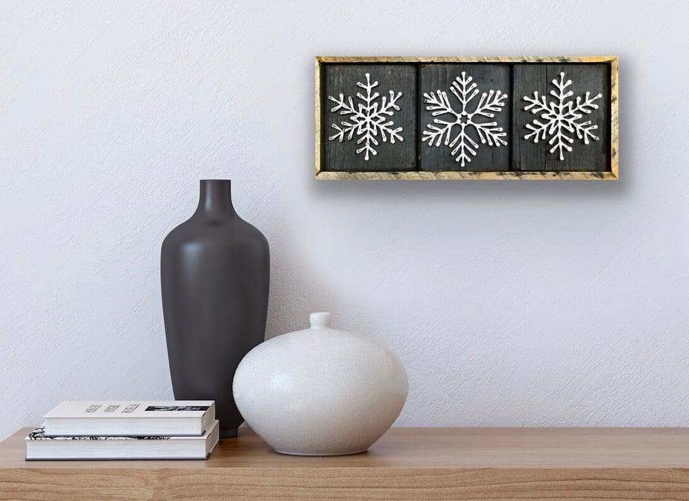 Image of Small snowflake trio