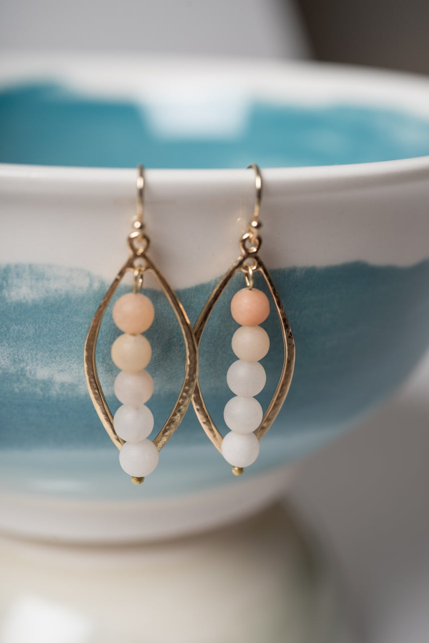Image of Frosted Quartz Ombre Earrings