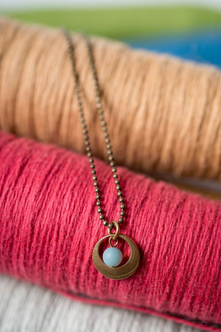 Image of Amazonite Tiny Peek Necklace