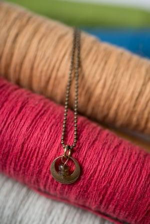 Image of Purple Tourmaline Tiny Peek Necklace